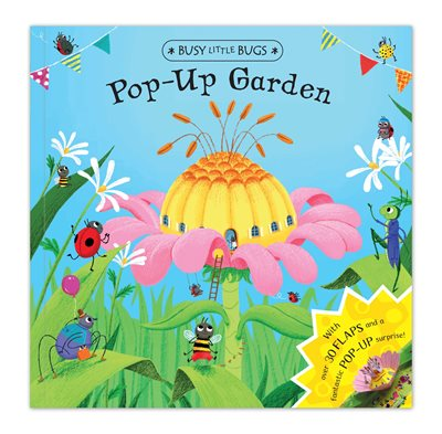 Book cover for Busy Little Bugs: Pop-Up Garden